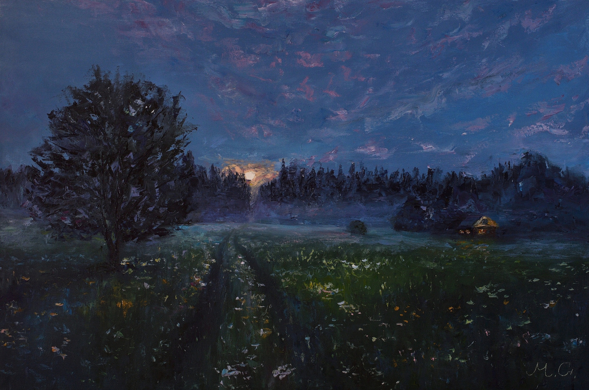 Grigory Yaroslavovich Malashin. Night moon and silence