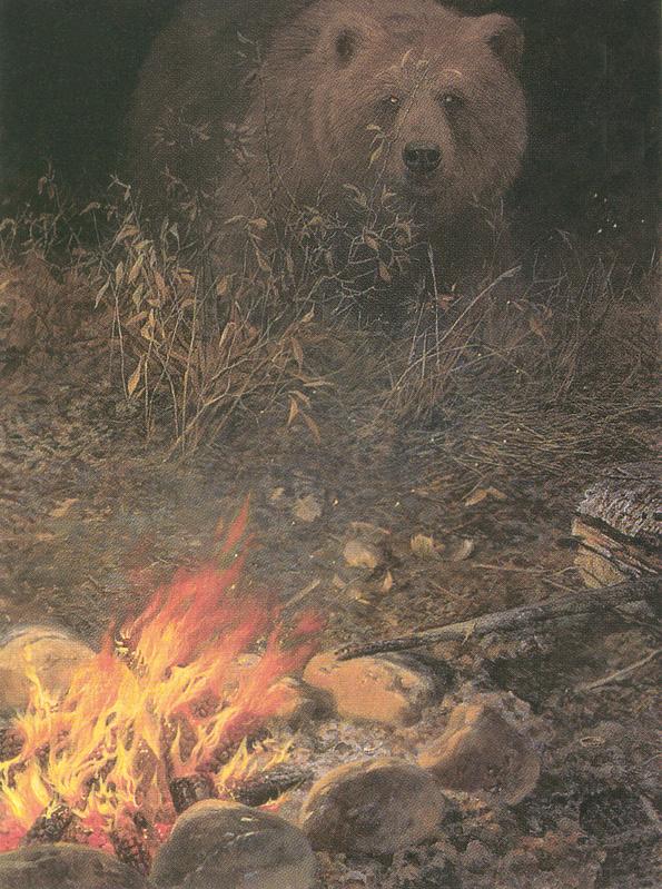 Seerey-Лестер Джон. Медведь у костра