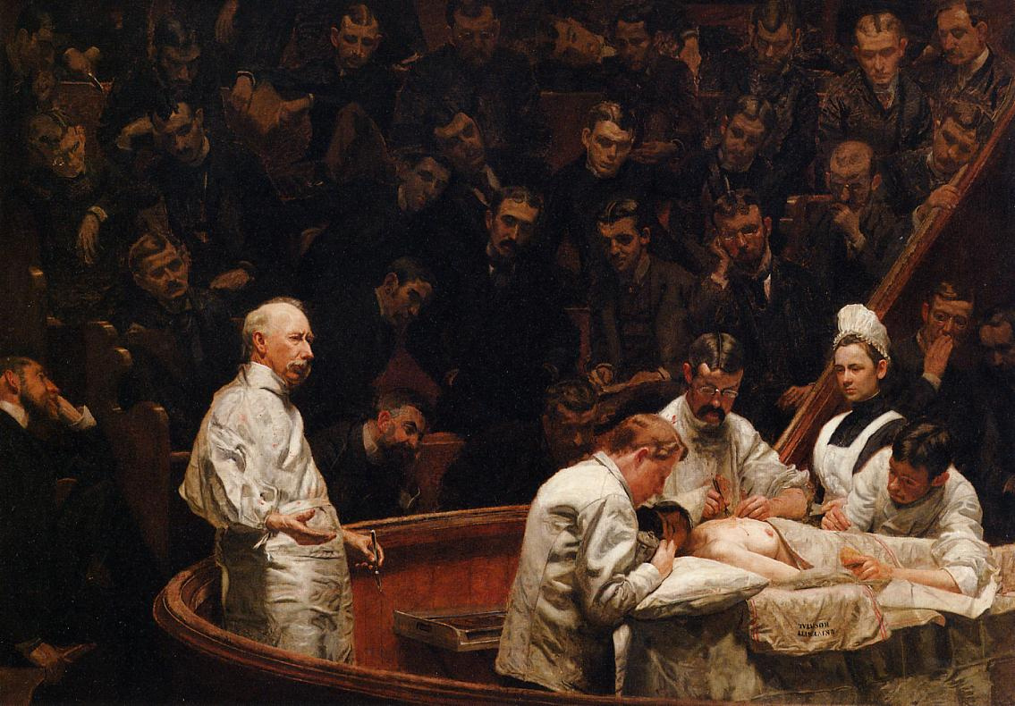Thomas Eakins. The clinic of Dr. Agnew