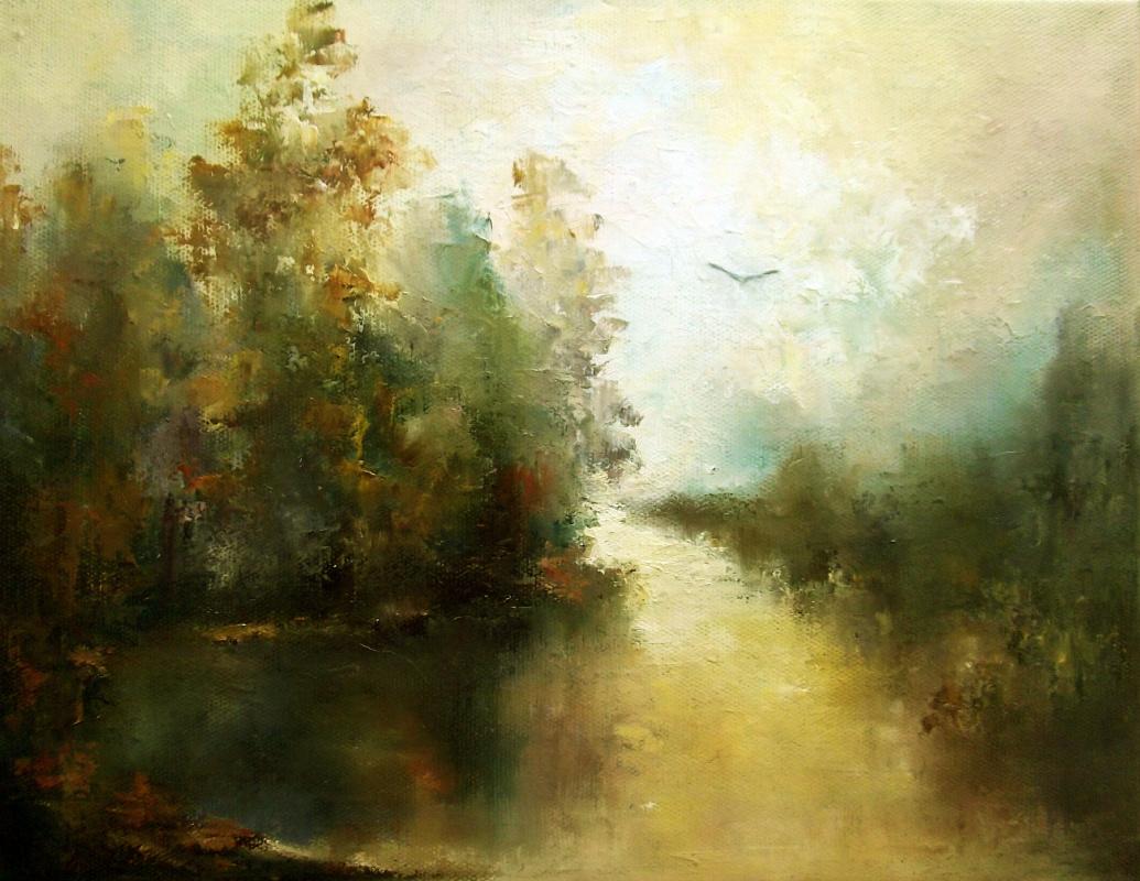 Elena Yudina. Solo over the quiet water