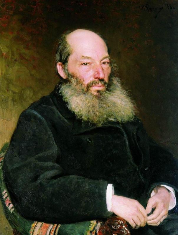 Илья Ефимович Репин. Портрет поэта А. А. Фета