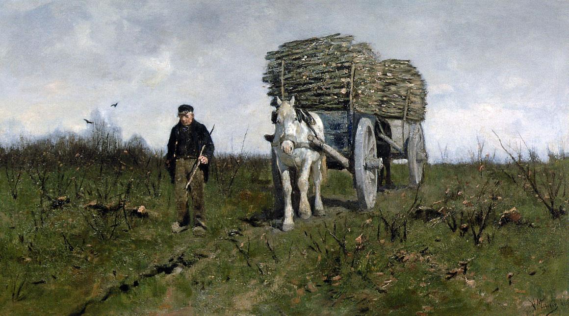 Anton Maouve. Transportation of wood