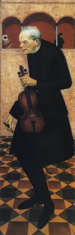 Александр Евгеньевич Яковлев. Скрипач. 1915