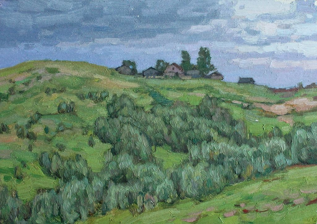 Yuri F. Venetsianov. Small farm in Mistolovo