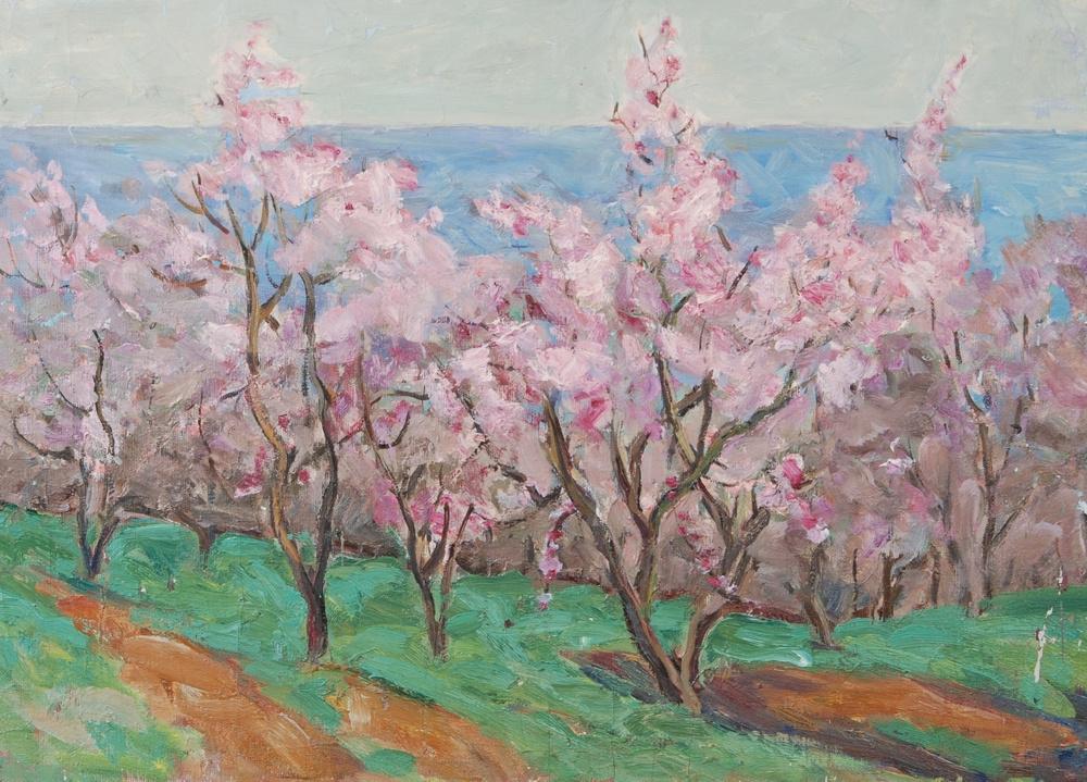 Grigory Alexandrovich Sretensky. Almonds in bloom. 1955 69x50