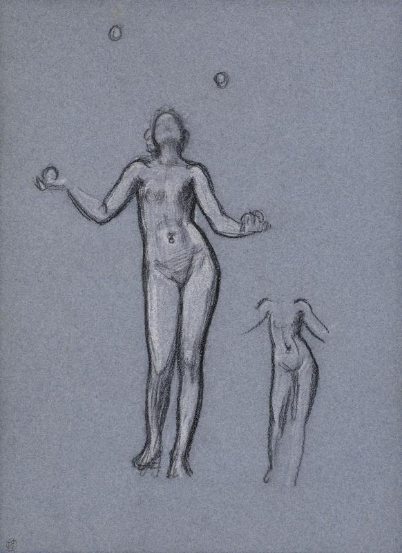 Сэр Фредерик Лейтон. Набросок для «Античной жонглирующей девушки»