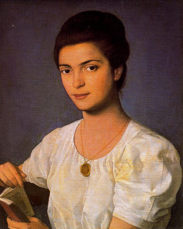 Антонио Буэно. Девушка в белой блузке