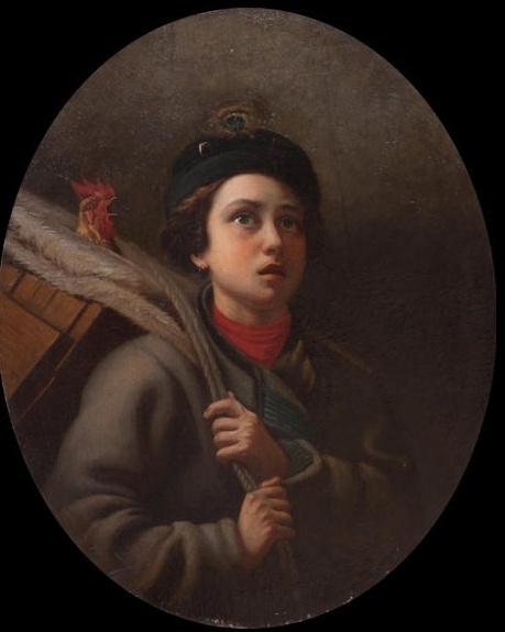Павел Саввич Шильцов. Мальчик с петухом
