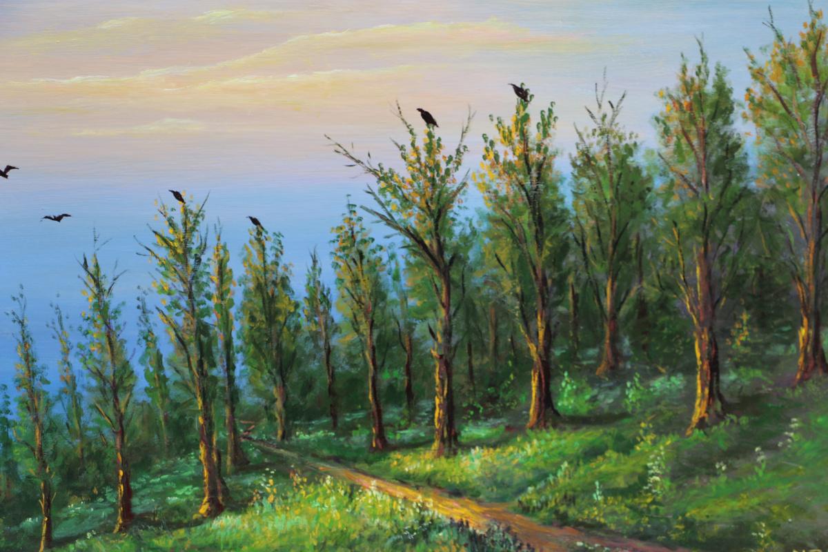 Najaf Mamedali oglu Mamedov. Morning in the forest