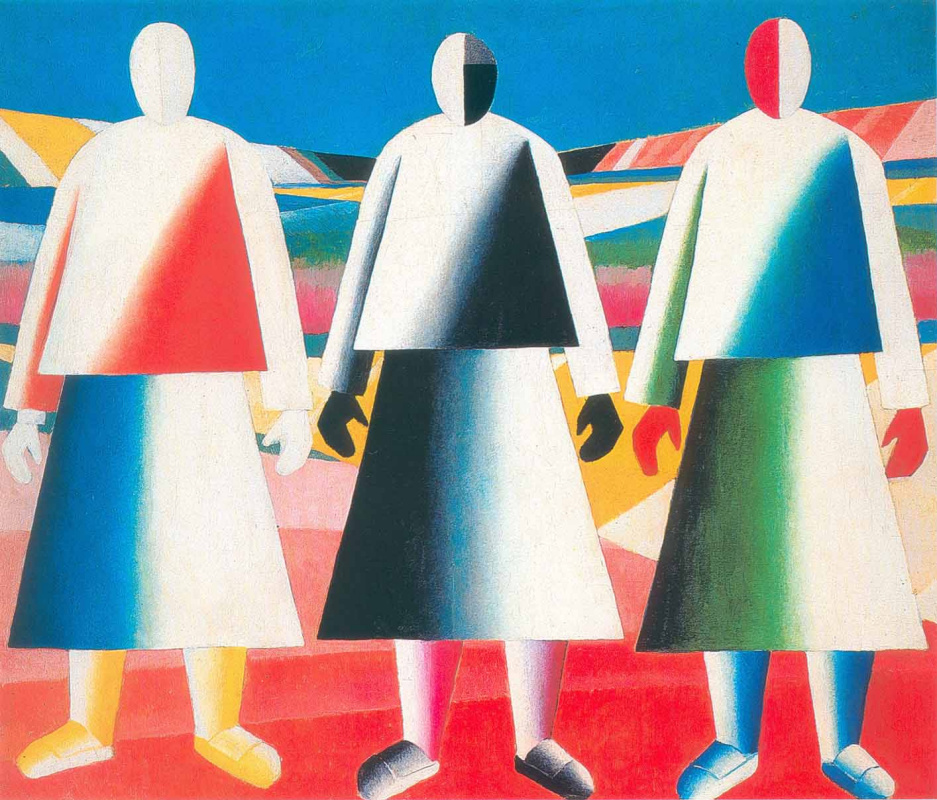 Kazimir Severinovich Malevich. Girls in the field