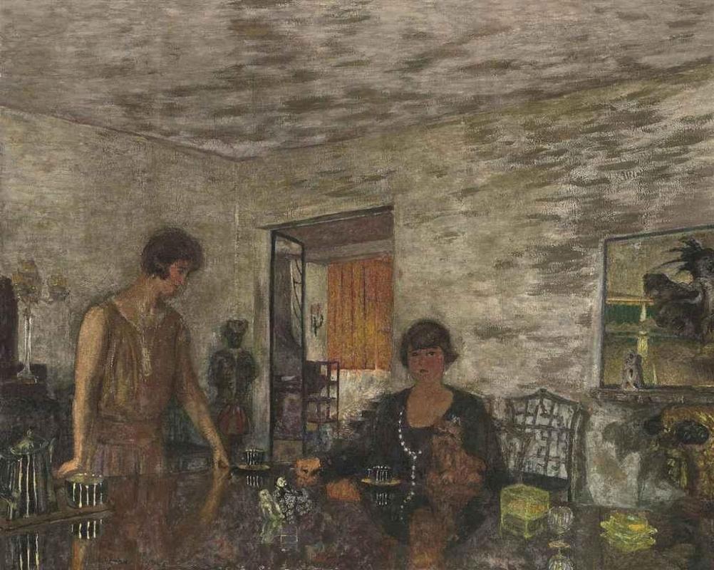 Jean Edouard Vuillard. Black Cup. Misia Sert and her niece Mimi Godebska