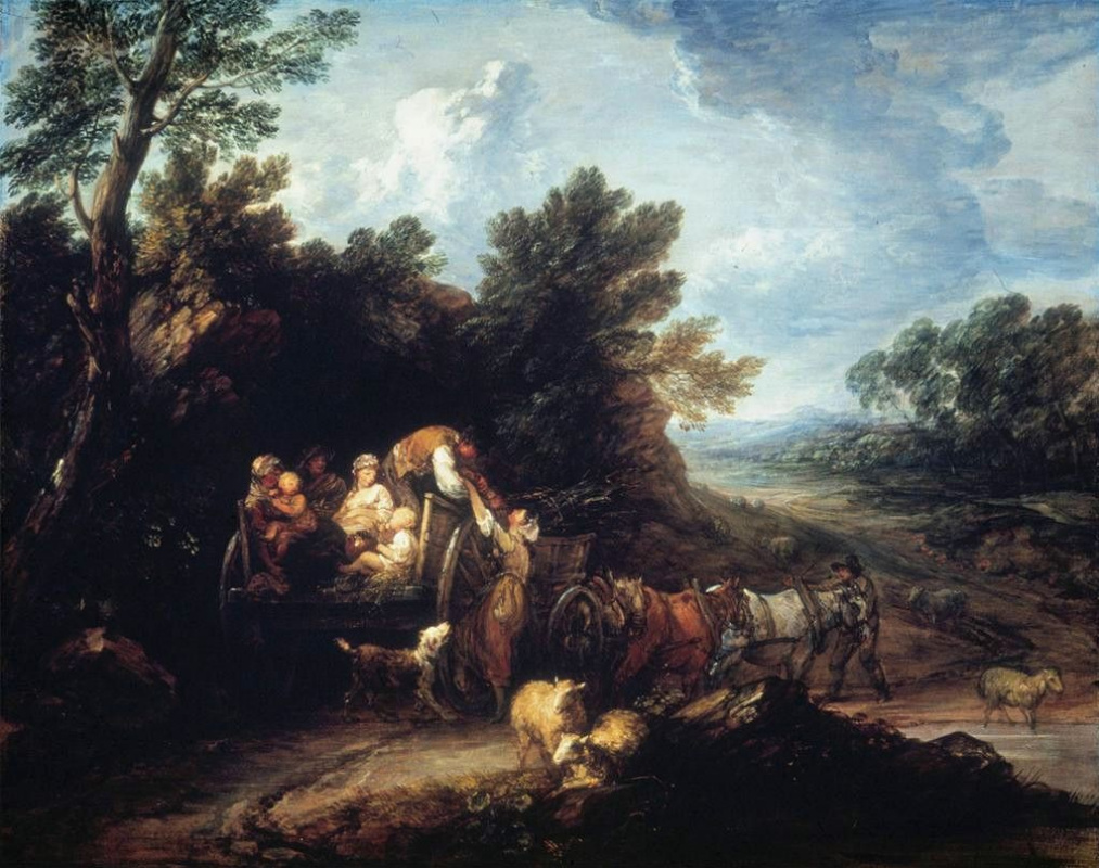 Thomas Gainsborough. The return from the harvest