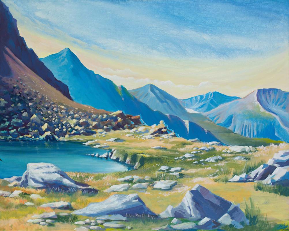Dmitry Anatolyevich Ostapchuk. Mountain lake