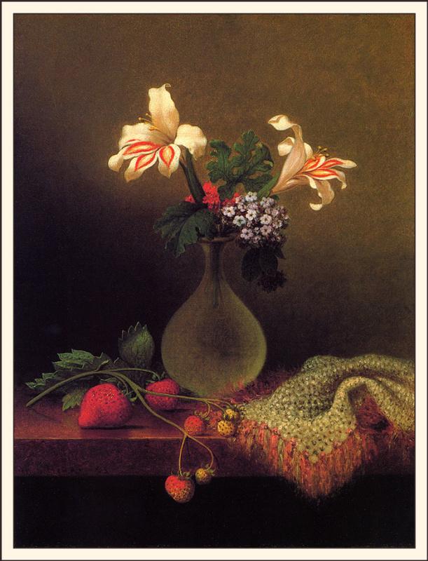 Мартин Джонсон Хед. Ваза с лилиями и гелиотропами
