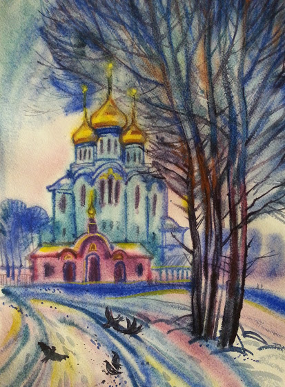 Natalia Gennadievna Torlopova. Spring in Syktyvkar. Easter
