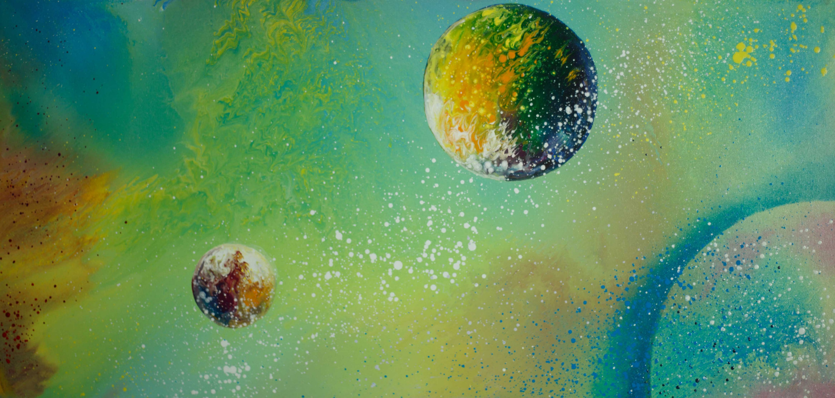 "Alla Struchayeva. Painting ""Peaceful Space"""