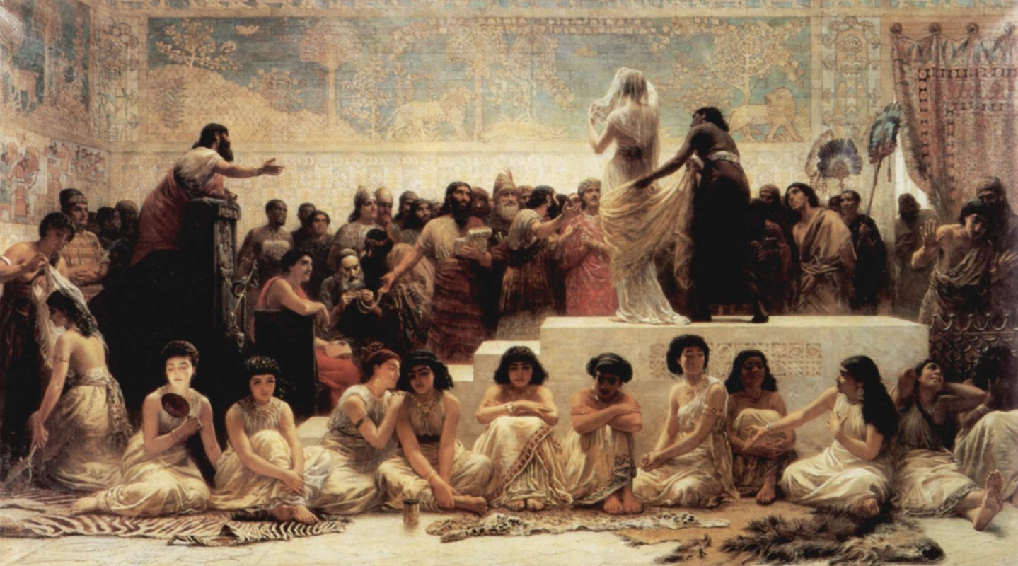 Edwin Longsden Long. The Market Of Babylon
