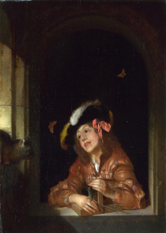 Адриан ван дер Верф. Мальчик с мышеловкой