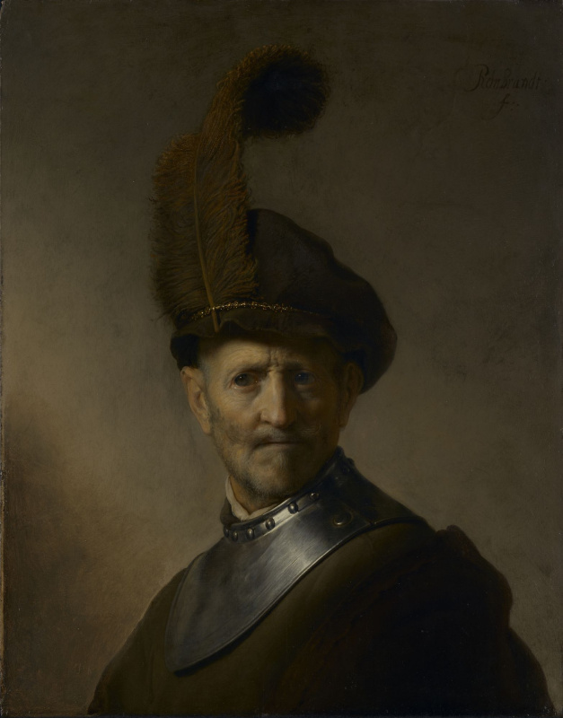 Rembrandt Harmenszoon van Rijn. An old man in military costume