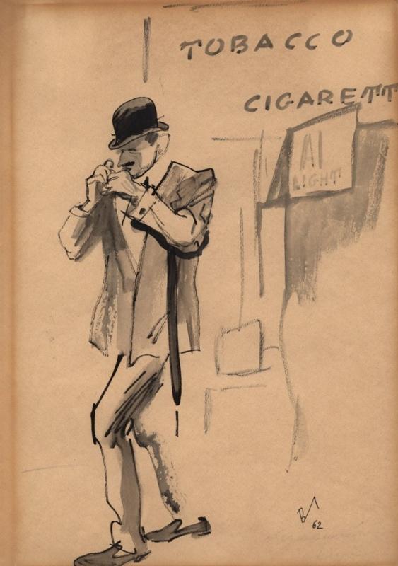 Владимир Александрович Гальба. Курильщик. 1962