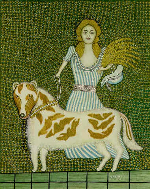 Morris Hirschfield. Girl with a dog