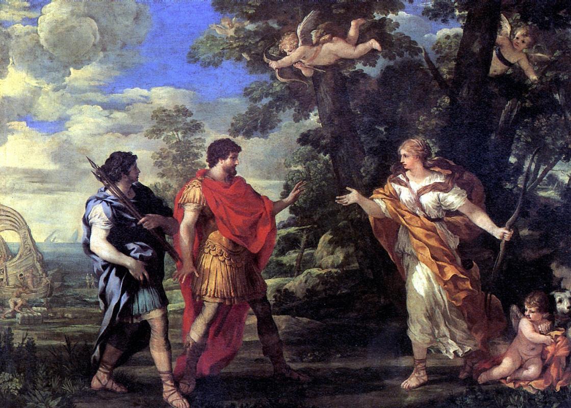 Пьетро Да Кортона. Венера является Энею в образе богини охоты