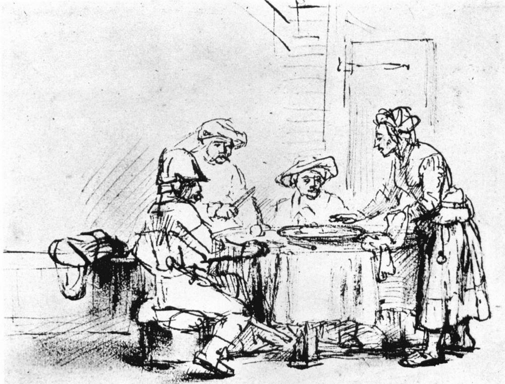 Рембрандт Ван Рейн. Саул у Аэндорской волшебницы