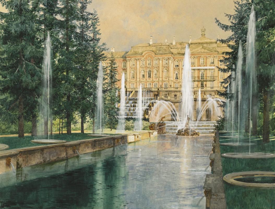 Franz Copallicus Austria 1860 - 1931. Peterhof.