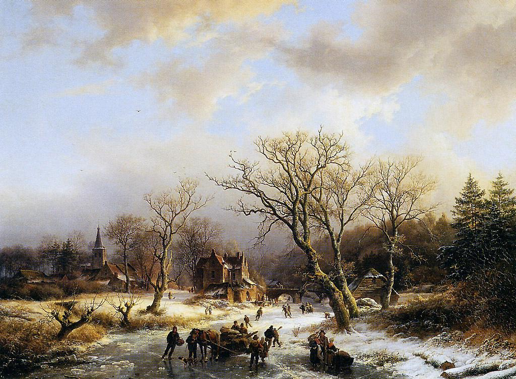 Barend Cornelis Kukkuk. Winter пейзаж3