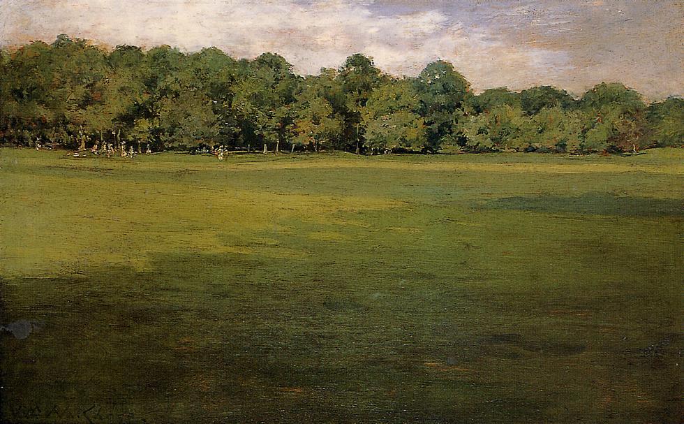 William Merritt Chase. Croquet court