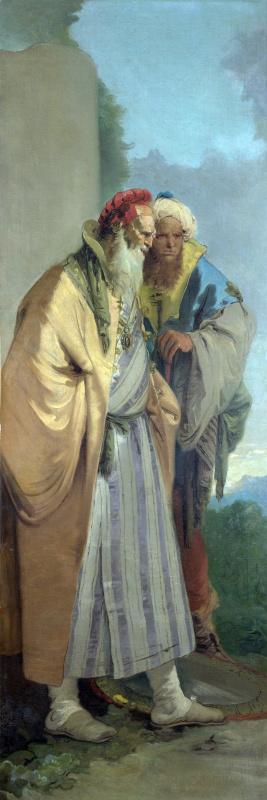 Джованни Баттиста Тьеполо. Двое мужчин в восточных костюмах