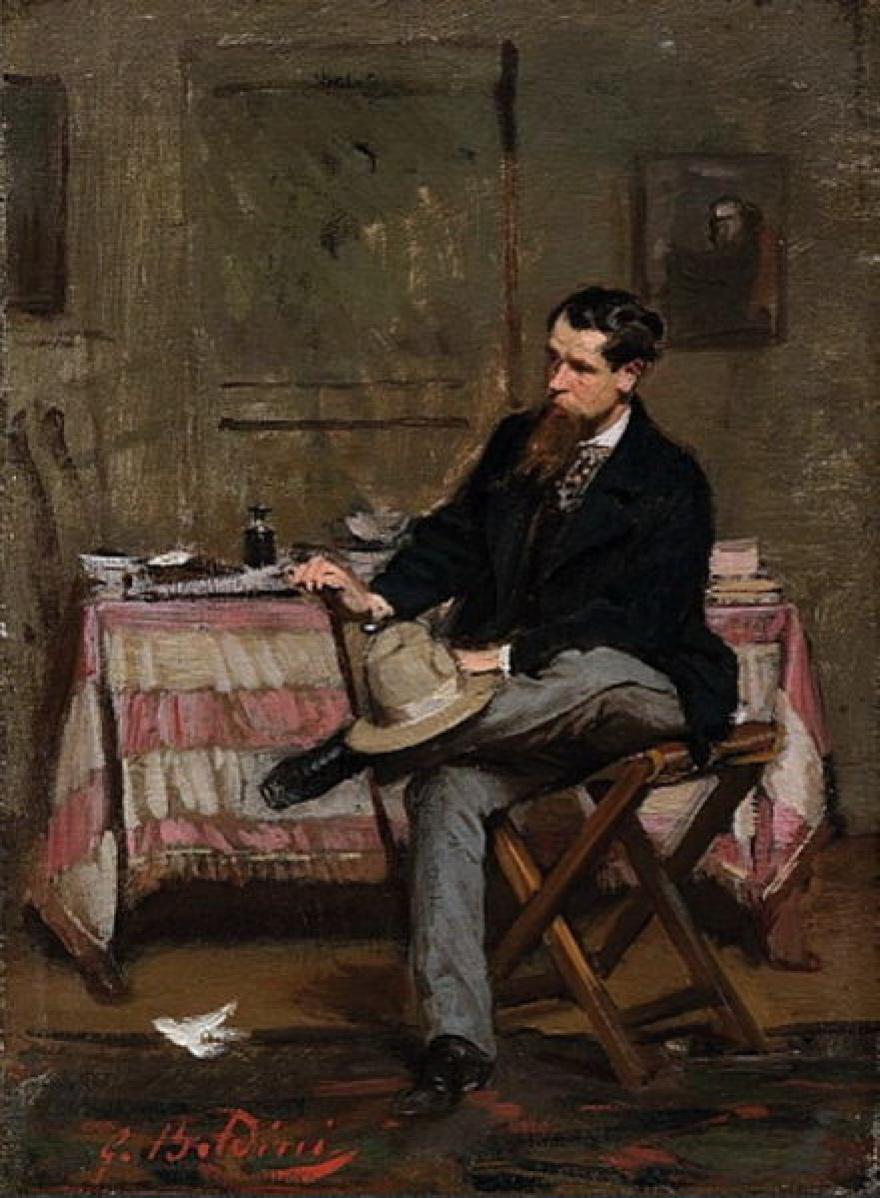 Джованни Больдини. Портрет художника Винченцо Кабианка в интерьере