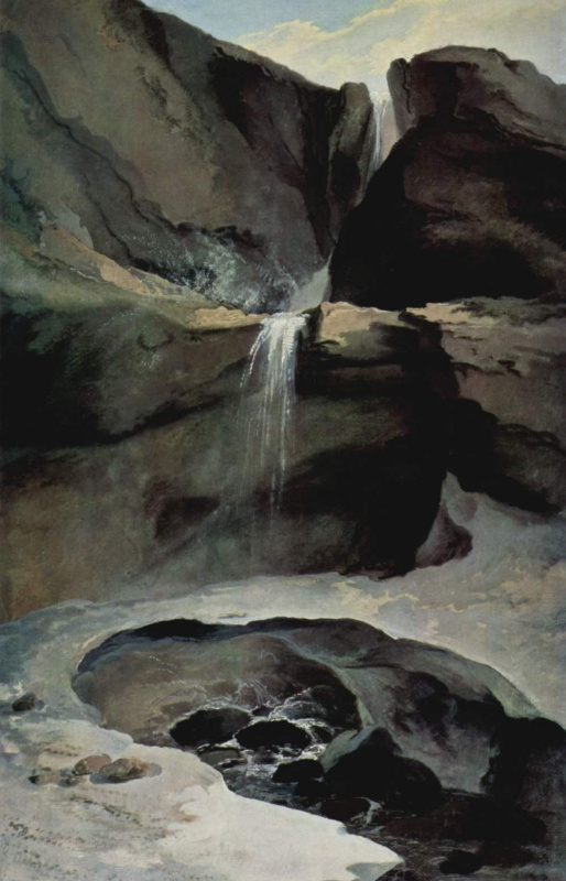Каспар Вольф. Водопад Гельтенбах зимой