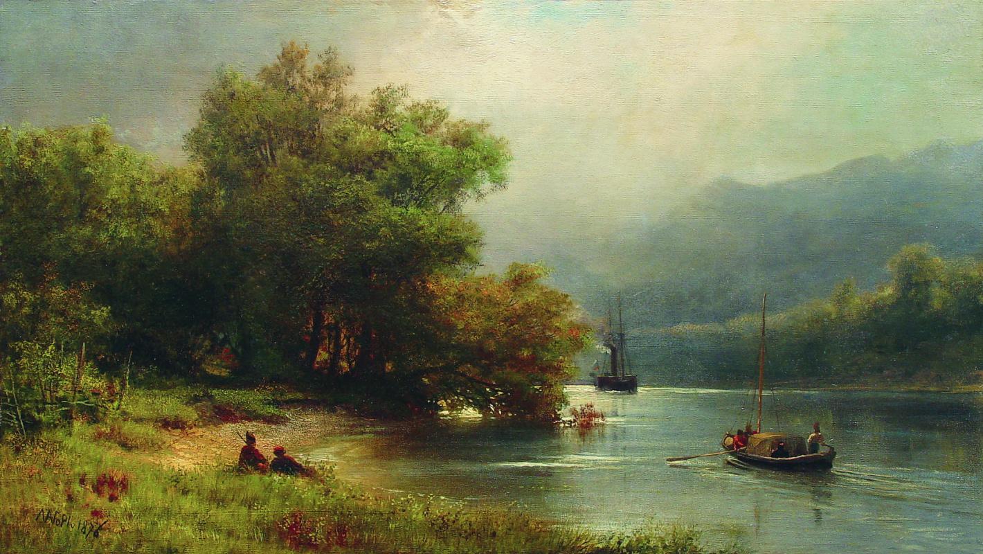 Лев Феликсович Лагорио. Пейзаж с рыбаками