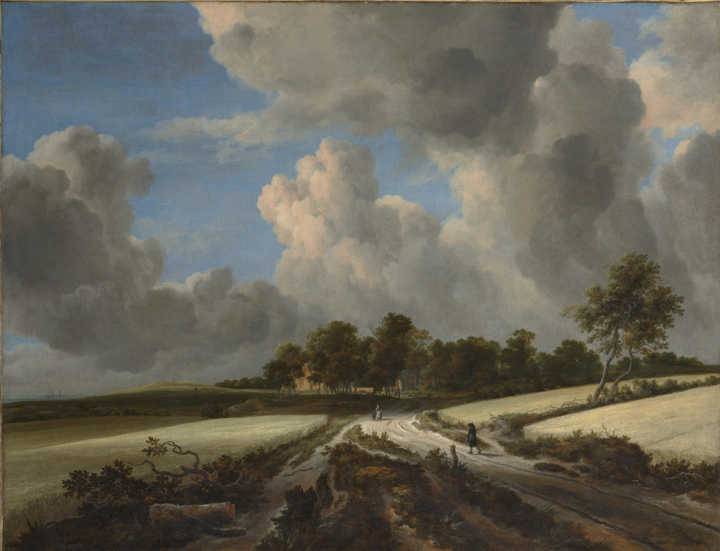 Jakob van Isaacs Ruisdael. Wheat fields