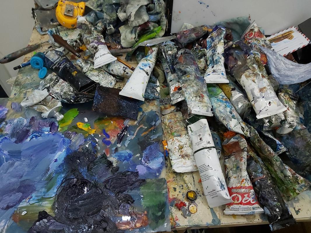 Cokey Nagerts. Messy drawing board