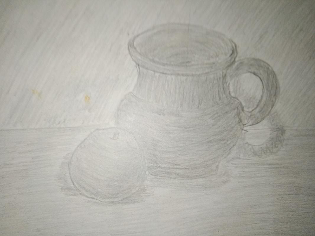 Zina Vladimirovna Parisva. Still life with a mug