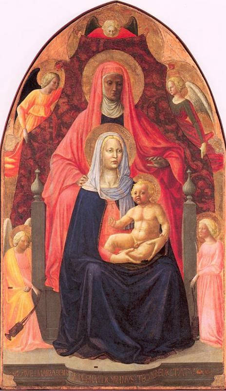 Томмазо Мазолино. Богородица с младенцем