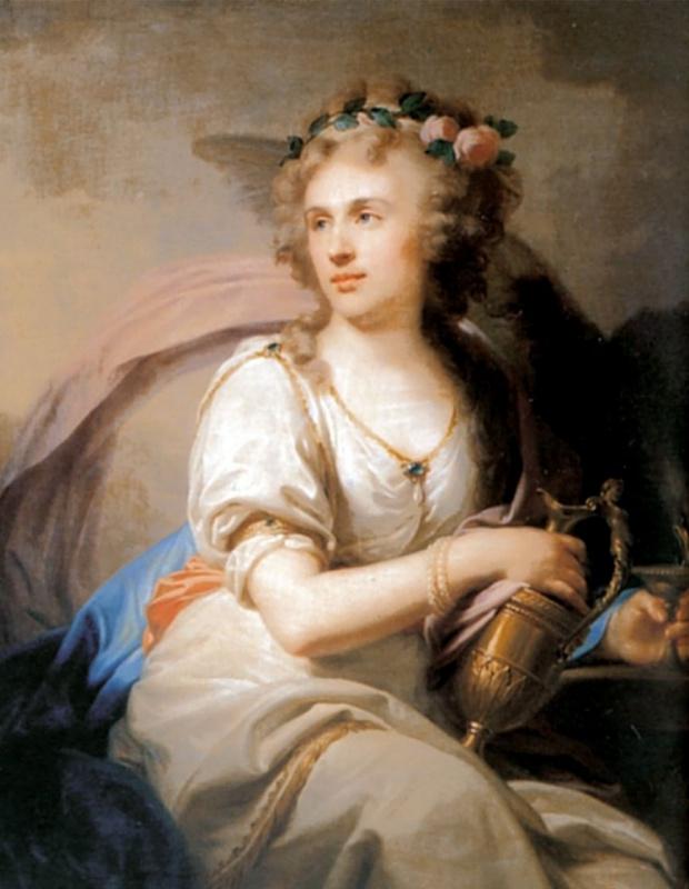 Портрет княгини Е. Ф. Долгорукой в виде Гебы, кормящей орла