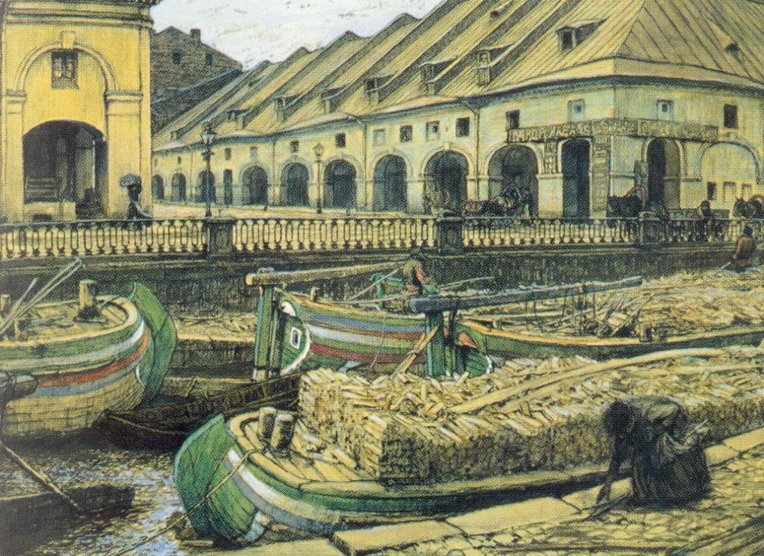 Евгений Евгеньевич Лансере. Никольский рынок в Петербурге