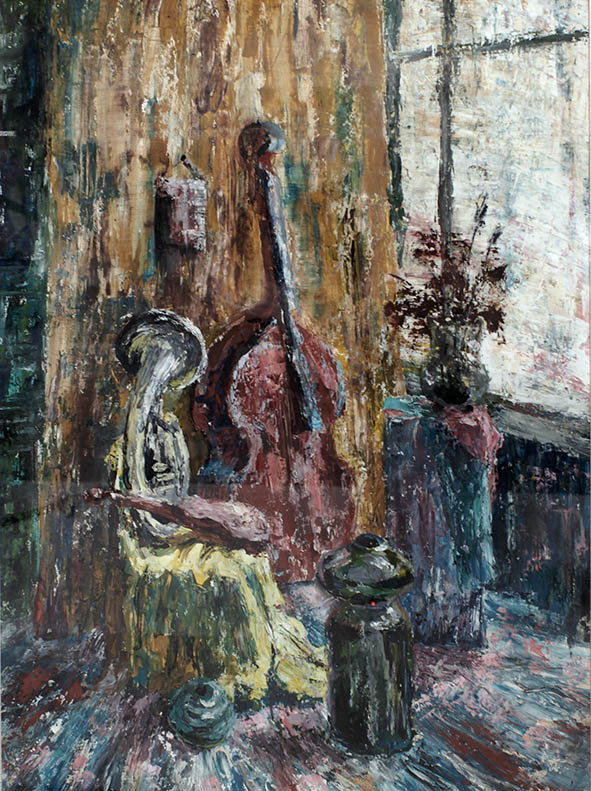 Aleksander Kovalchuk. Still life with violin