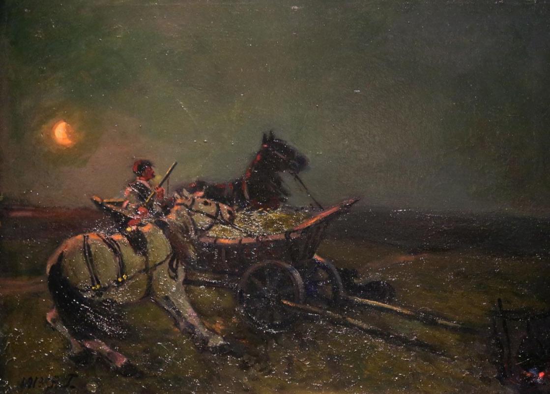 Alexander Mikhailovich Gerasimov. Wolf voice in the field. Private collection