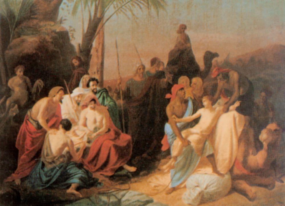 Константин Дмитриевич Флавицкий. Дети Иакова продают своего брата Иосифа