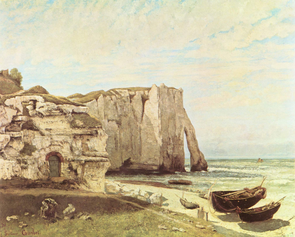Gustave Courbet. The beach in Etretat