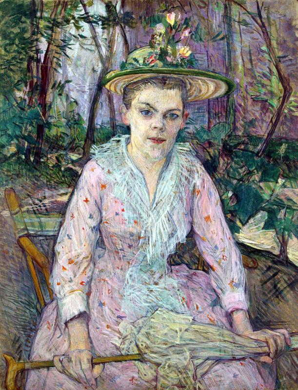 Анри де Тулуз-Лотрек. Женщина с зонтиком (Глухая Берта в саду месье Фореса)