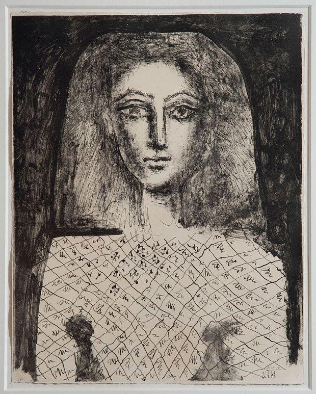 Пабло Пикассо. Блузка в клетку