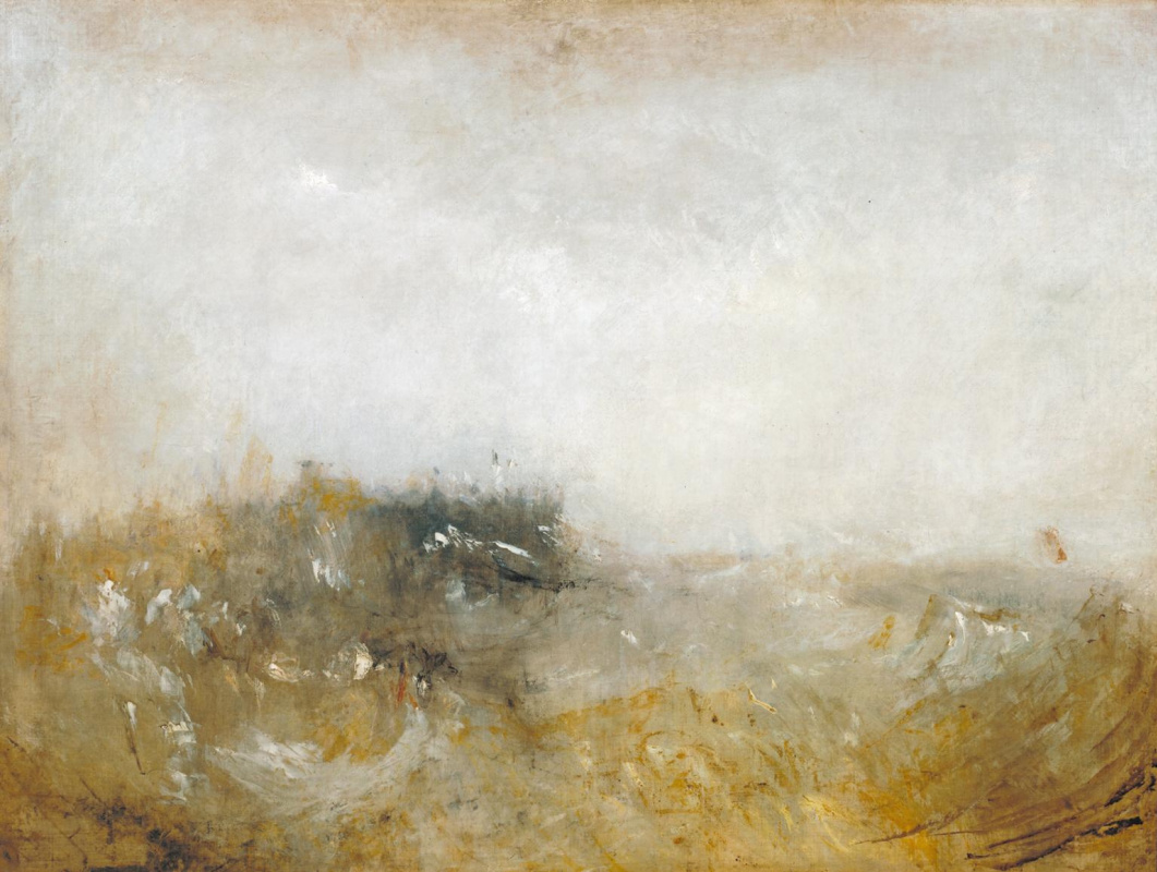 Joseph Mallord William Turner. Stormy sea
