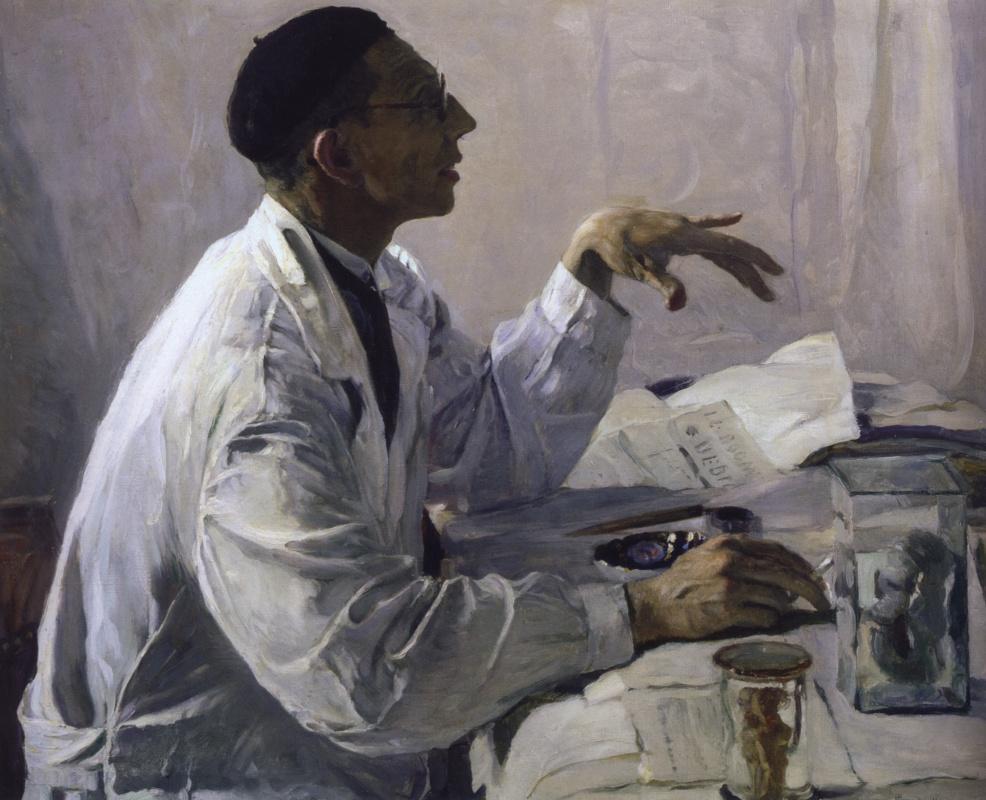 Mikhail Vasilyevich Nesterov. Portrait of a surgeon S. S. Yudin