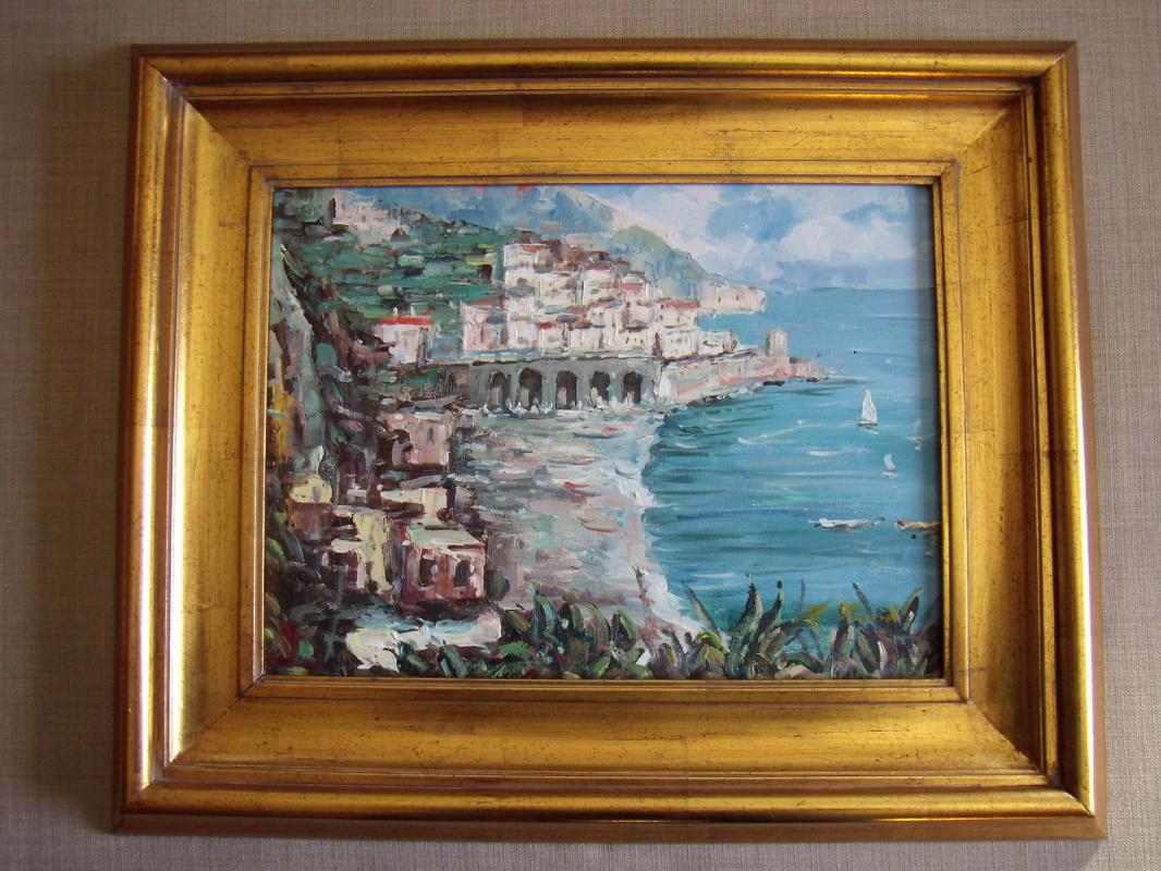 Unknown artist. Amalfi Coast. Italy.