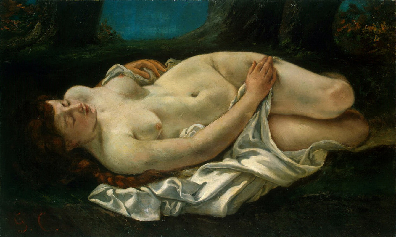 Gustave Courbet. Reclining woman